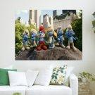 2011 The Smurfs  Art Poster Print  24x18 inch