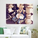 Chess Princess  Art Poster Print  24x18 inch