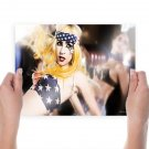 Lady Gaga Hd  Art Poster Print  24x18 inch