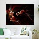 Fire Dragon  Art Poster Print  24x18 inch