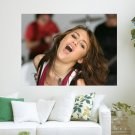Miley Cyrus Singing Her Heart Out  Art Poster Print  24x18 inch