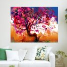 Cool Abstract Tree  Art Poster Print  24x18 inch