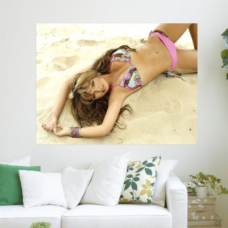 Melissa Giraldo In Swimsuit  Art Poster Print  24x18 inch