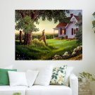 Country Life For Jen  Art Poster Print  24x18 inch