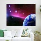 Stars In The Sky  Art Poster Print  24x18 inch