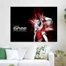 Derrick Rose S Art Poster Print  24x18 inch