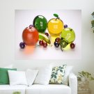 Glass Fruit  Art Poster Print  24x18 inch