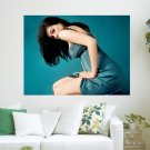 Actress Anne Hathaway  Art Poster Print  24x18 inch