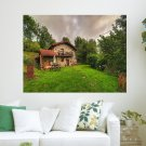 A Beautiful House In The Green  Art Poster Print  24x18 inch