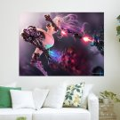 Fantasy Girl With Purple Hair  Art Poster Print  24x18 inch