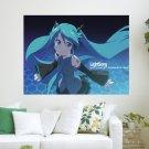 Little Cute Miku  Art Poster Print  24x18 inch