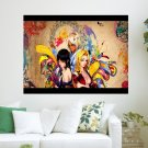 Bleach Girls  Art Poster Print  24x18 inch
