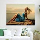 Feel The Breeze  Art Poster Print  24x18 inch