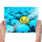 Happy Within Sadness  Art Poster Print  24x18 inch