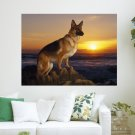 Majestic German Shepherd  Art Poster Print  24x18 inch