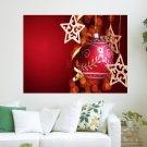Beautiful Xmas Decorations  Art Poster Print  24x18 inch