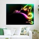 Rainbow Flair  Art Poster Print  24x18 inch