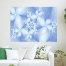 Winter Flowers  Art Poster Print  24x18 inch