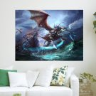 Knight Wings  Art Poster Print  24x18 inch