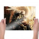 Darkness Vs Angels  Art Poster Print  24x18 inch
