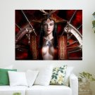 Chinese Queen  Art Poster Print  24x18 inch
