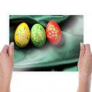 Easter Eggs  Art Poster Print  24x18 inch