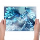 Fantasy Ice Artwork  Art Poster Print  24x18 inch