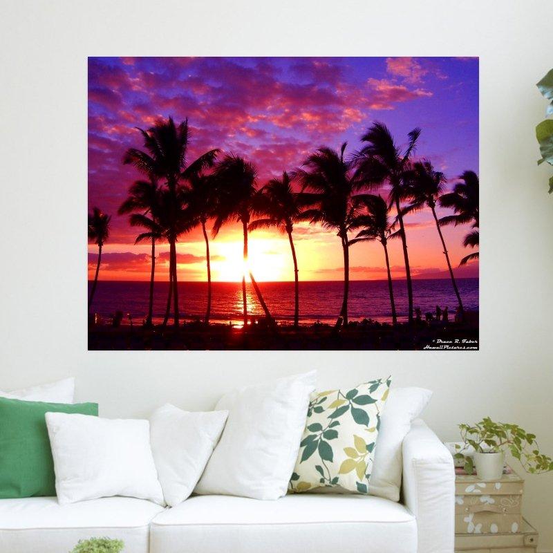 Maui Hawaii  Art Poster Print  24x18 inch