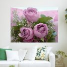 Three Purple Rose For My Sweet Luiza  Art Poster Print  24x18 inch