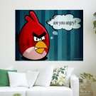 Are U Angry   Angry Birds  Art Poster Print  24x18 inch