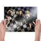Vocaloid Girls On The Floor  Art Poster Print  24x18 inch