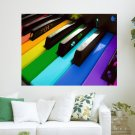 Colorful Piano  Art Poster Print  24x18 inch