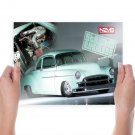 1950 Chevrolet Business Coupe Pro Street  Art Poster Print  24x18 inch