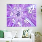Violet Swirl  Art Poster Print  24x18 inch