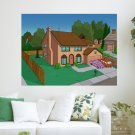 The Simpsons House  Art Poster Print  24x18 inch