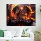 Fantasy Angel  Art Poster Print  24x18 inch