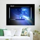 Windows 7 Blue Fantasy  Art Poster Print  24x18 inch