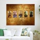 Human Gods  Art Poster Print  24x18 inch