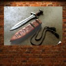 Edge Weapons Steel Knives Dagger Poster 36x24 inch (91x61 cm)