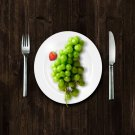 Grapes With Knives And Fork Artwork Samsung Galaxy S  Poster 36x24 inch (91x61 cm)