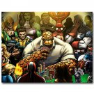Superheroes Playing Poker Cards Funny Poster Thing Spider Man 32x24