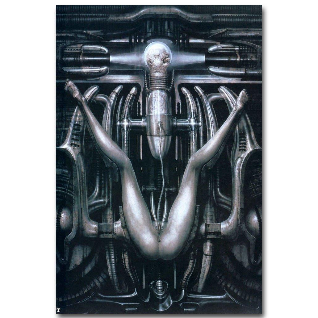 HR Giger Death Bearing Machine Art Poster Print 32x24