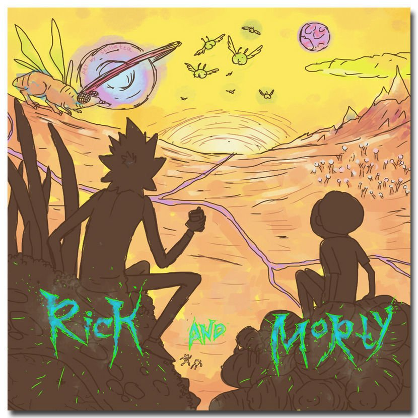 Rick And Morty Cartoon Poster 32x24
