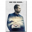 Paul Walker Fast And Furious 7 Movie Art Wall Poster 32x24