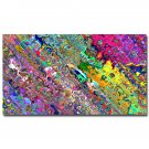 Psychedeli C Trippy Abstract Art Poster Miscellaneous Color 32x24