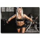 Bodybuilding Fitness Motivational Art Poster Gym Room Decor 32x24