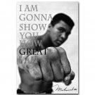 Muhammad Ali Motivational Quotes Boxing Art Poster 32x24