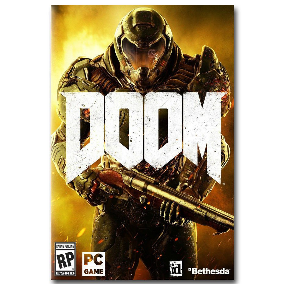 DOOM Hot Shooting Game Art Poster Print Wall Decor 32x24