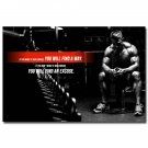 Bodybuilding Fitness Motivational Poster Picture Gym Decor 32x24