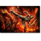 Mortal Kombat MK Hot Fighting Game Art Poster Print Scorpion 32x24
